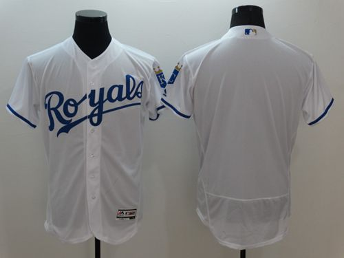 Royals Blank White Flexbase Authentic Collection Stitched MLB Jersey