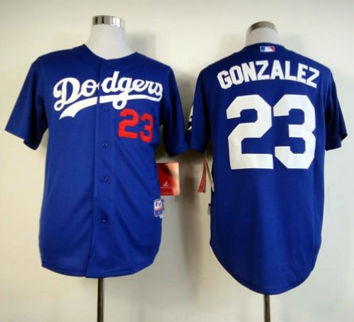 Dodgers #23 Adrian Gonzalez Blue Cool Base Stitched MLB Jersey