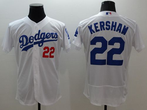 Dodgers #22 Clayton Kershaw White Flexbase Authentic Collection Stitched MLB Jersey