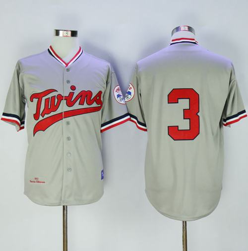 Mitchell And Ness 1972 Twins #3 Harmon Killebrew Grey Throwback Stitched MLB Jersey