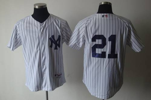 Yankees #21 Paul O'Neill White Cooperstown Stitched MLB Jersey