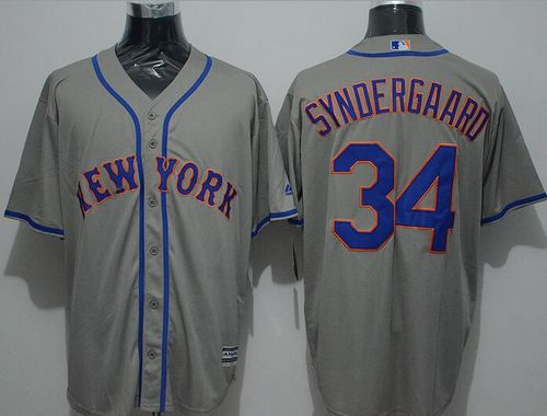 Mets #34 Noah Syndergaard Grey New Cool Base Stitched MLB Jersey
