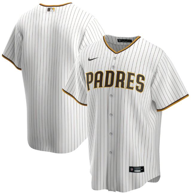 Men's San Diego Padres Blank White Cool Base Stitched Jersey