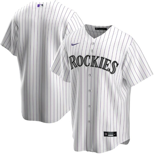 Men's Colorado Rockies Blank White Cool Base Stitched MLB Jersey