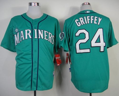 Mariners #24 Ken Griffey Green Alternate Cool Base Stitched MLB Jersey