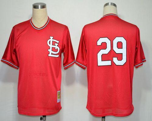 Mitchell And Ness Cardinals #29 Vince Coleman Red Throwback Stitched MLB Jersey