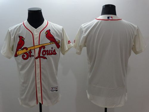 Cardinals Blank Cream Flexbase Authentic Collection Stitched MLB Jersey