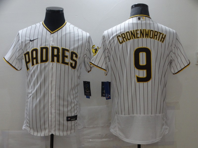 Men's San Diego Padres #9 Jake Cronenworth White Flex Base Stitched MLB Jersey