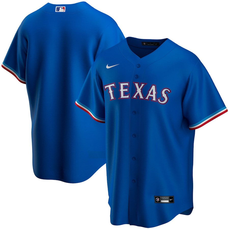 Men's Texas Rangers Blank Blue Stitched MLB Jersey