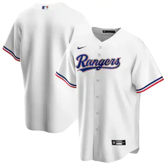 Men's Texas Rangers Blank White Stitched MLB Jersey