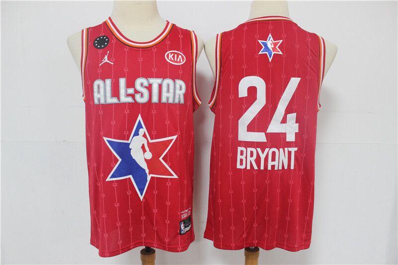 Men's Los Angeles Lakers #24 Kobe Bryant Red 2020 All-Star ...