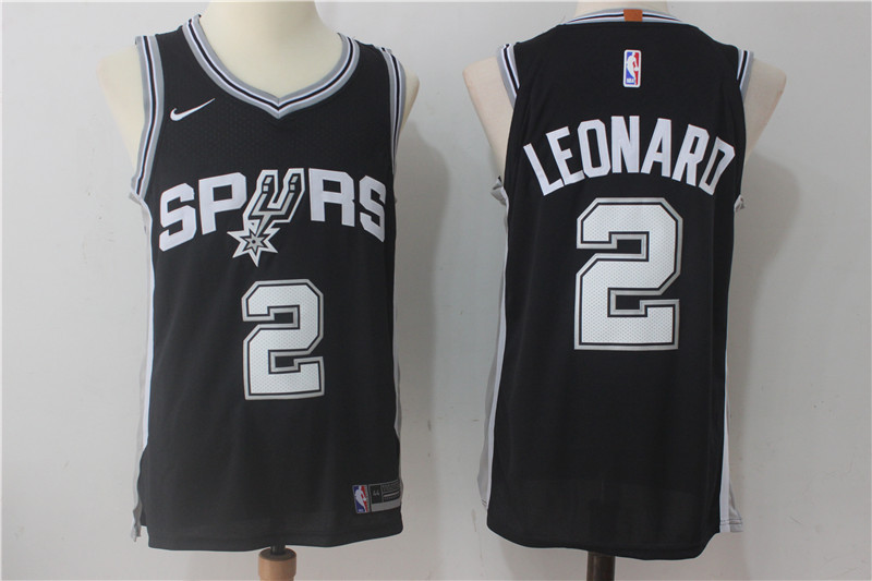 Men's Nike San Antonio Spurs #2 Kawhi Leonard Black Stitched NBA Jersey