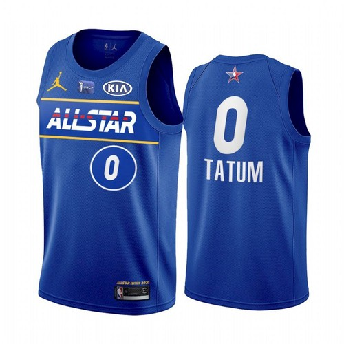 Men's 2021 All-Star #0 Jayson Tatum Blue Eastern Conference Stitched NBA Jersey