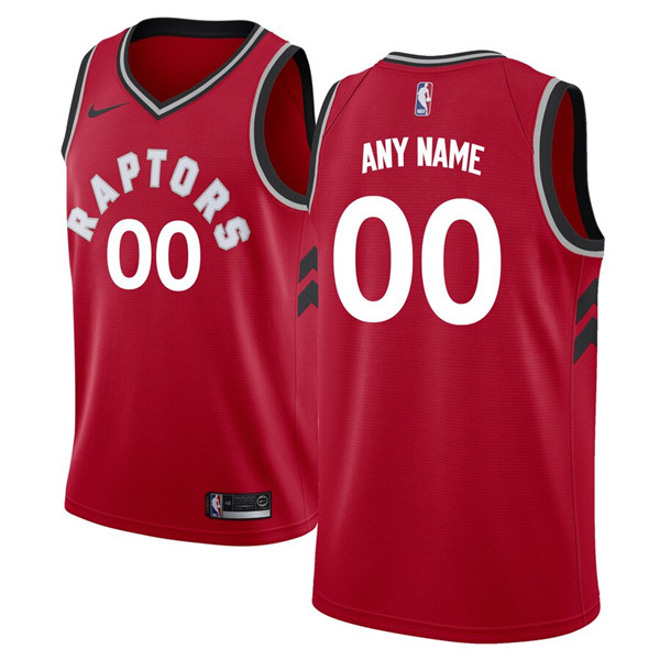 Men's Toronto Raptors Active Player Red Custom Stitched NBA Jersey