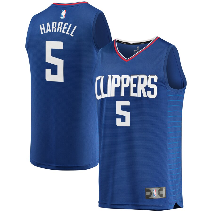 Men's Los Angeles Clippers #5 Montrezl Harrell Royal Stitched NBA Jersey