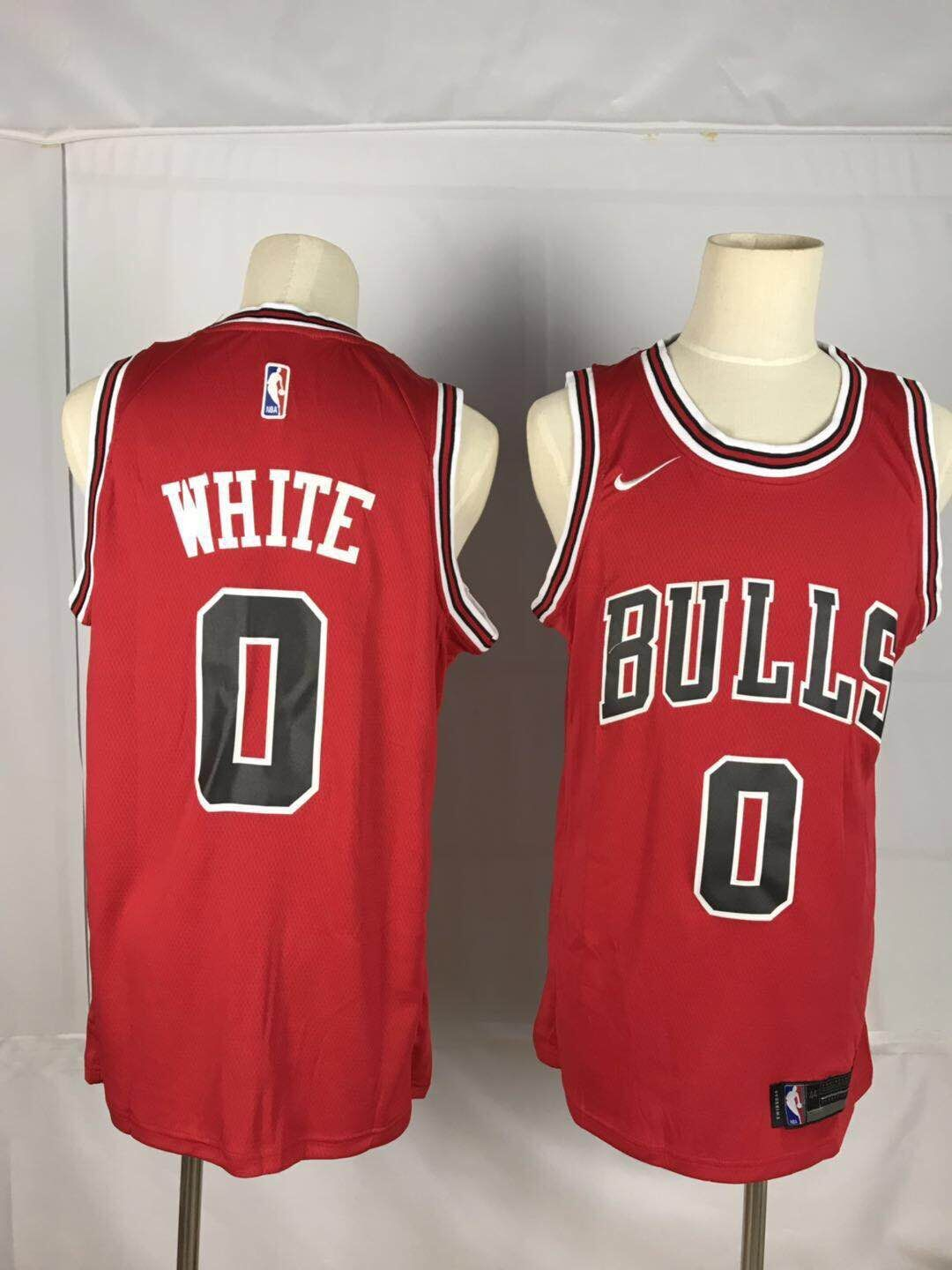 Men's Chicago Bulls #0 Coby White Red 2019 Stitched NBA Jersey