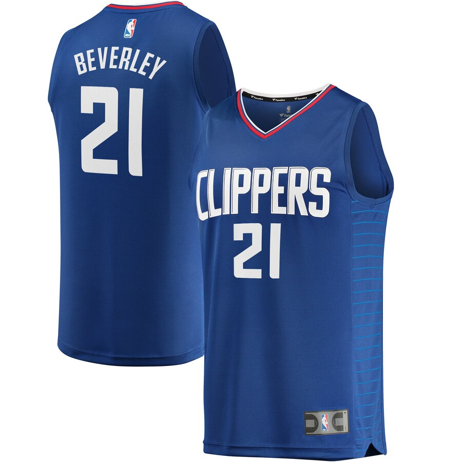 Men's Los Angeles Clippers #21 Patrick Beverley Blue Stitched NBA Jersey