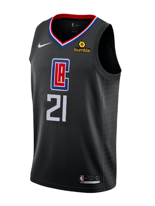 Men's Los Angeles Clippers #21 Patrick Beverley Black Stitched NBA Jersey