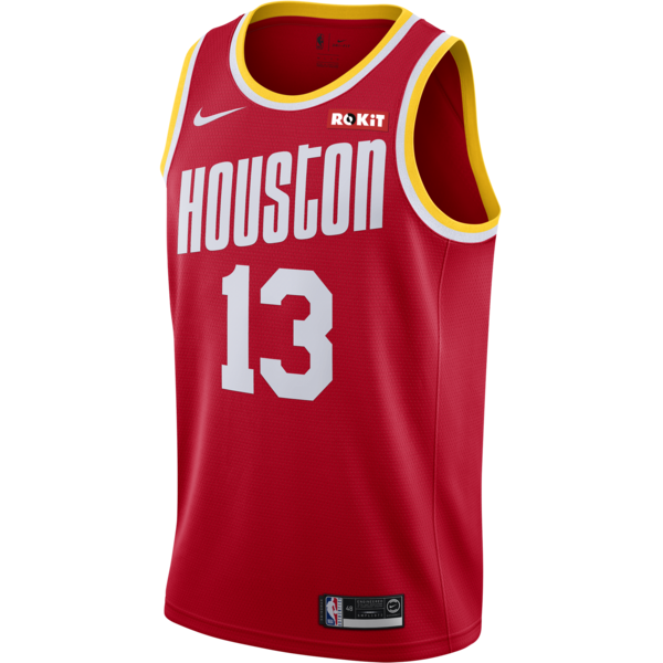 Men's Houston Rockets #13 James Harden Red 2019 Classic Editton Stitched NBA Jersey