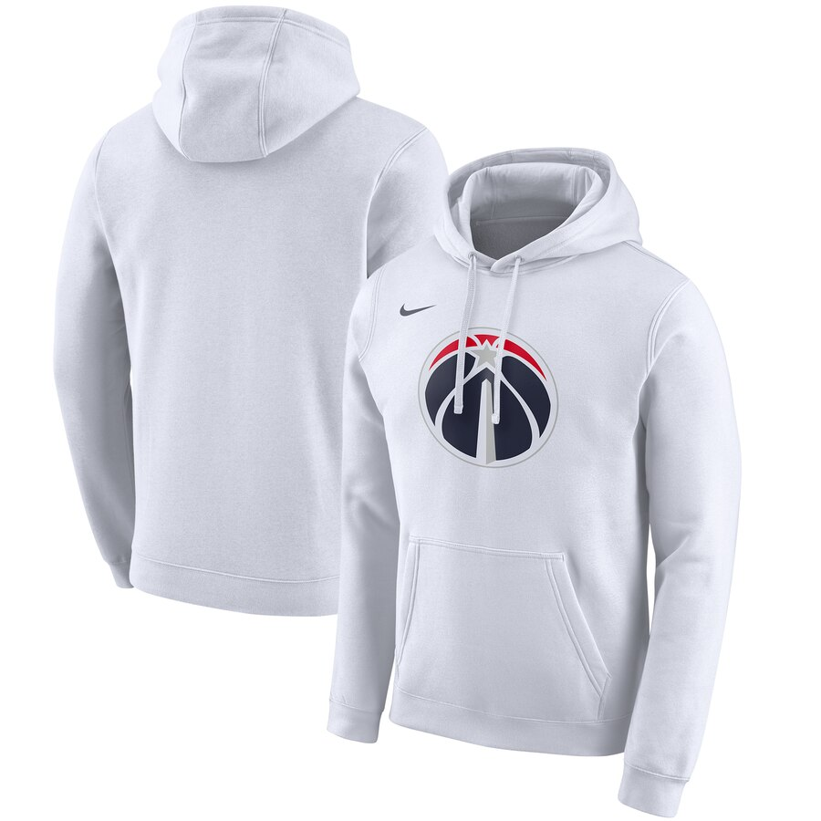 Men's Washington Wizards White City Edition Club Pullover Hoodie