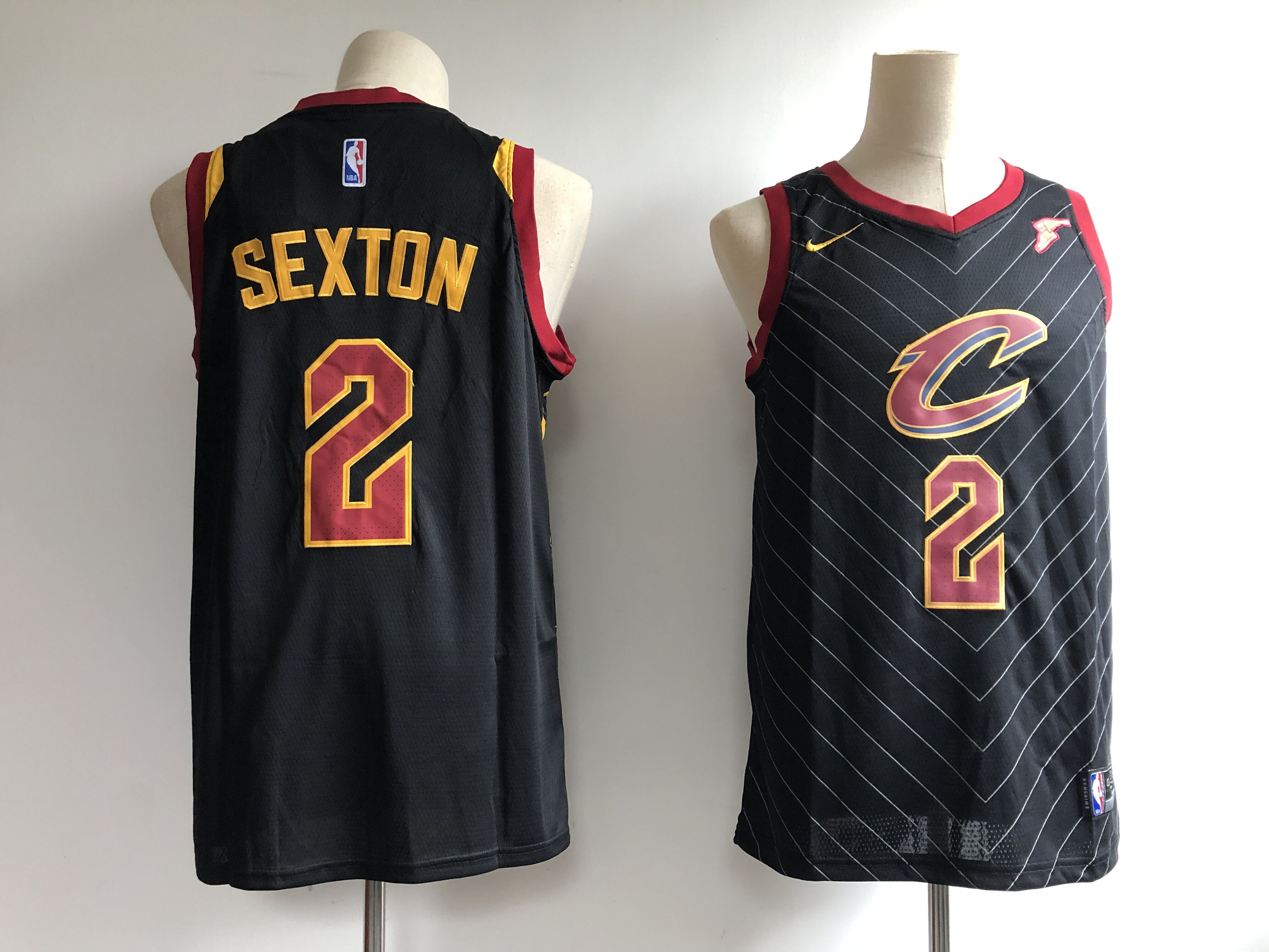 Men's Cleveland Cavaliers #2 Collin Sexton Black Statement Edition Swingman Stitched NBA Jersey