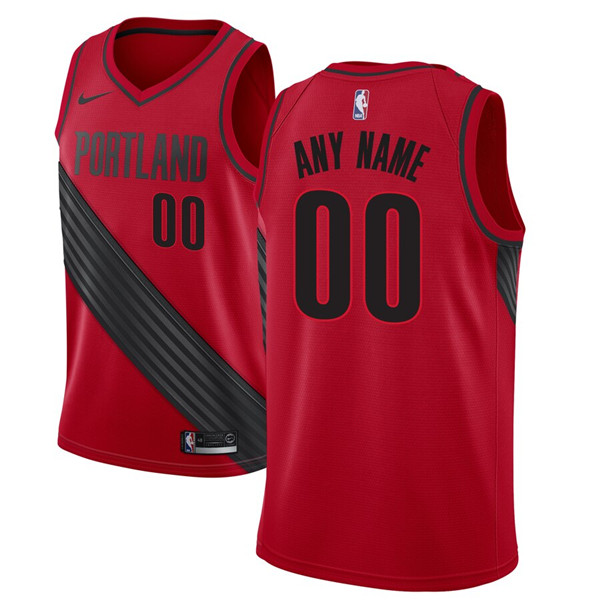 Men's Portland Trail Blazers Active Player Red Custom Stitched NBA Jersey