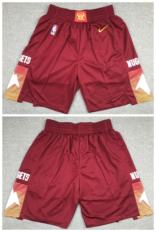 Men's Denver Nuggets Red Shorts (Run Small)