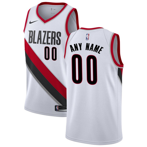 Men's Portland Trail Blazers Active Player White Custom Stitched NBA Jersey