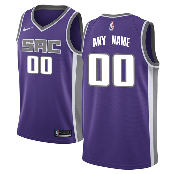 Men's Sacramento Kings Active Player Purple Custom Stitched NBA Jersey