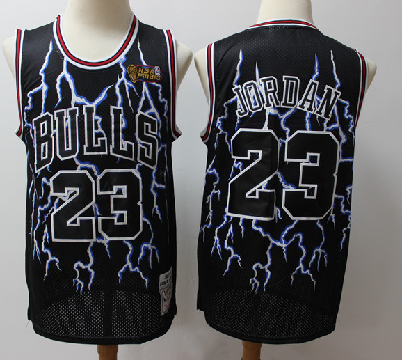 Men's Chicago Bulls #23 Michael Jordan Black 2019 Stitched NBA Jersey