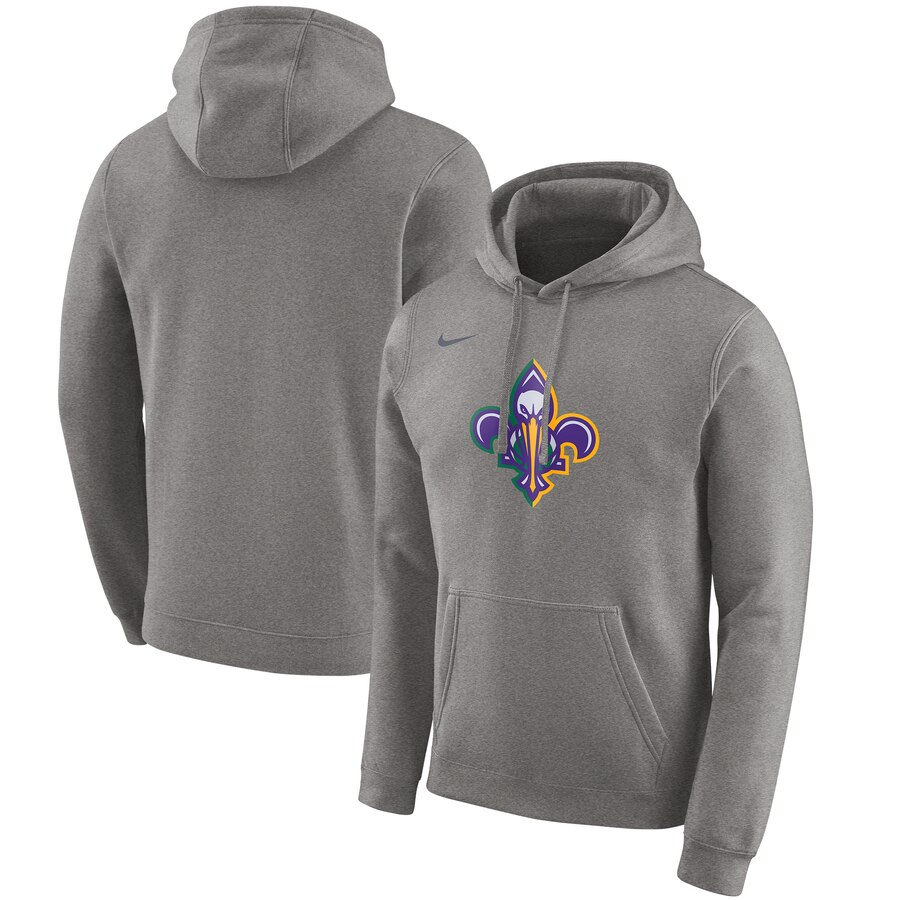 Men's New Orleans Pelicans Grey City Edition Club Pullover Hoodie