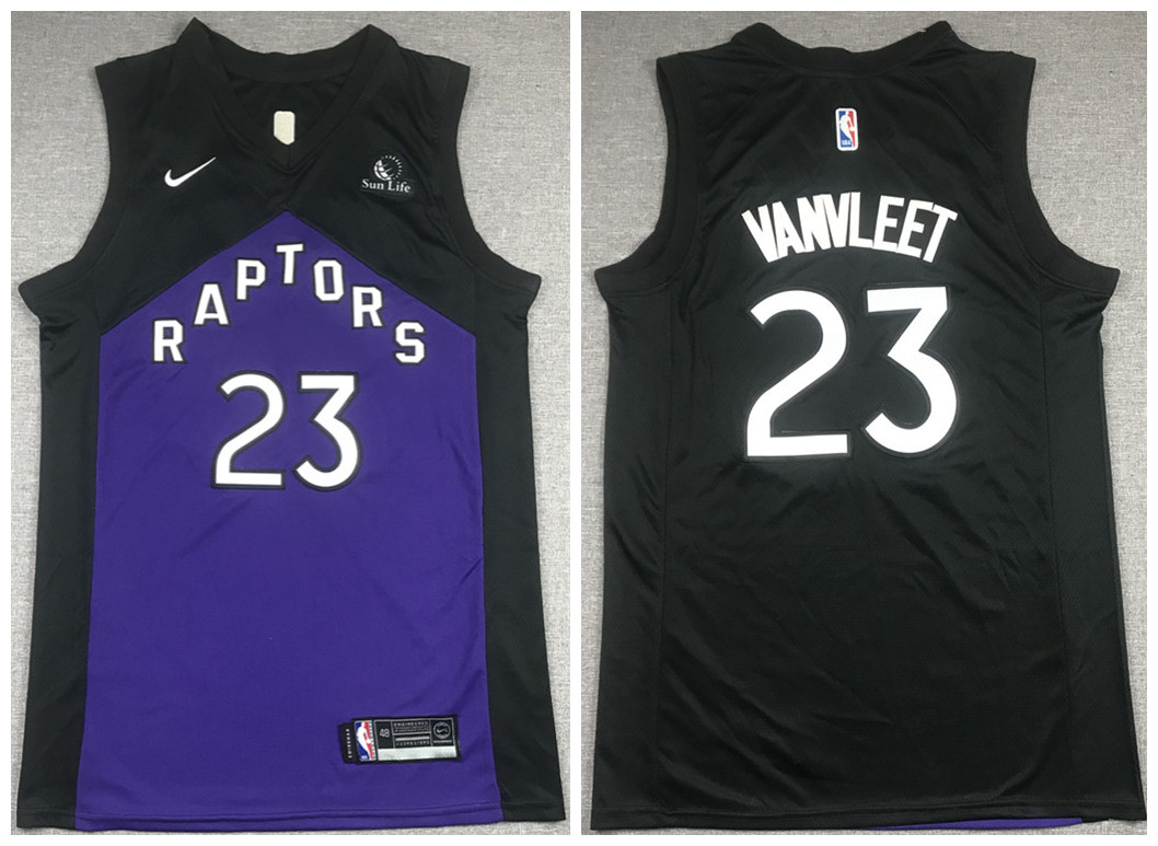 Men's Toronto Raptors #23 Fred Vanvleet Purple And Black Stitched NBA Jersey