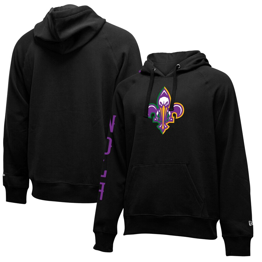 Men's New Orleans Pelicans Black City Edition Club Pullover Hoodie