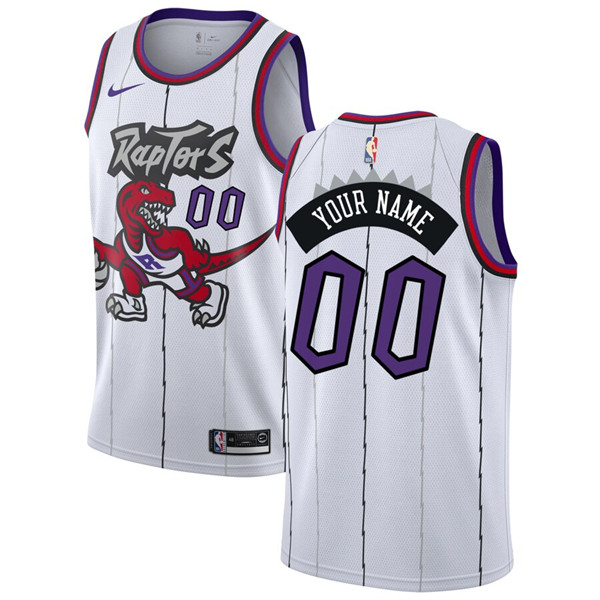 Men's Toronto Raptors Active Player White Custom Stitched NBA Jersey