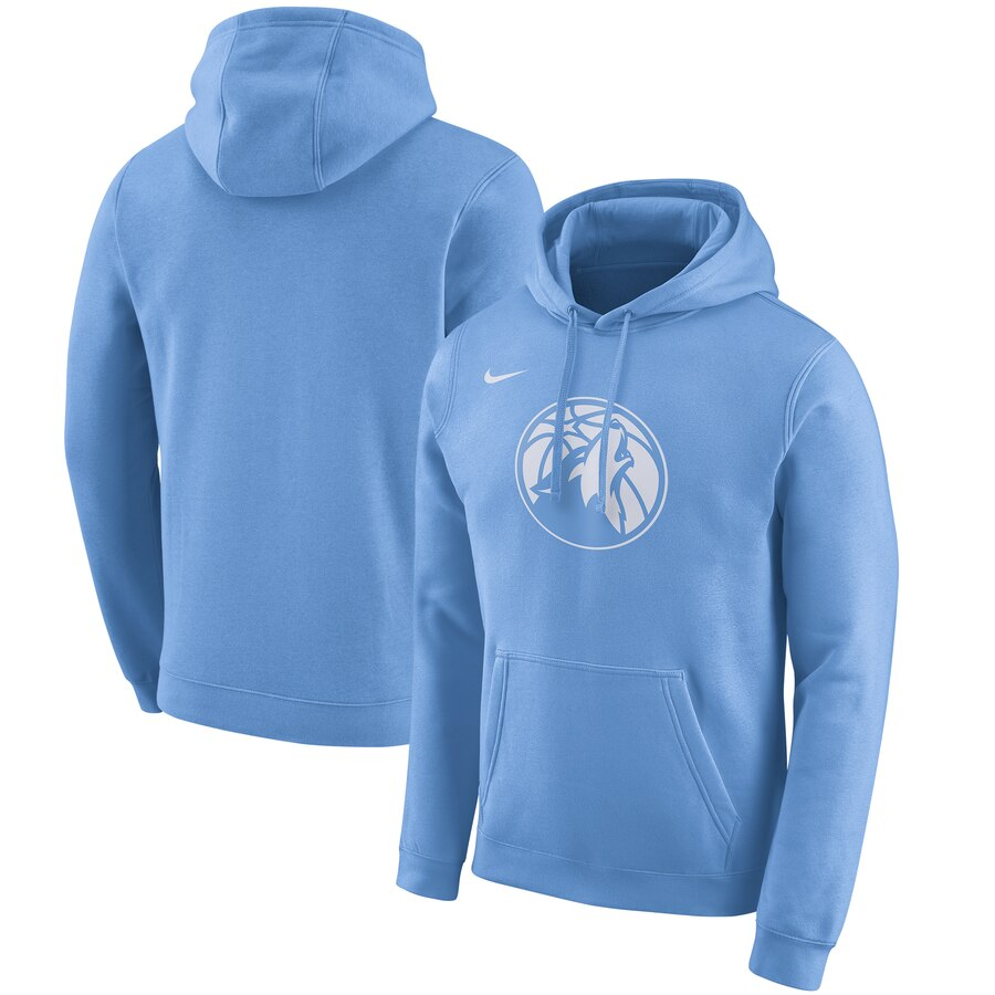 Men's Minnesota Timberwolves Blue City Edition Club Pullover Hoodie