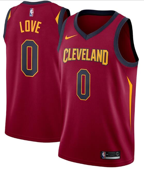 Men's Cleveland Cavaliers #0 Kevin Love Red Icon Edition Swingman Stitched Jersey