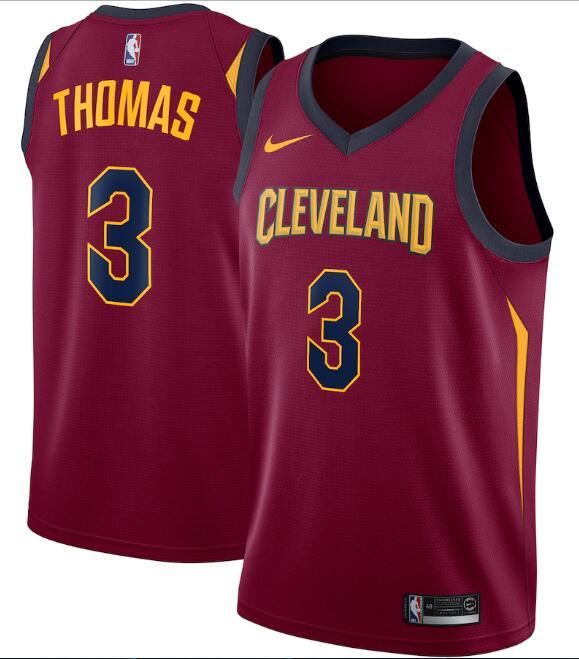 Men's Cleveland Cavaliers #3 Isaiah Thomas Red Icon Edition Swingman Stitched Jersey