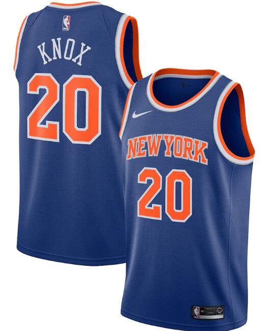 New Yok Knicks #20 Kevin Knox Blue Icon Edition Stitched Swingman Jersey