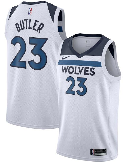 Men's Minnesota Timberwolves #23 Jimmy Butler White Association Edition Stitched Jersey