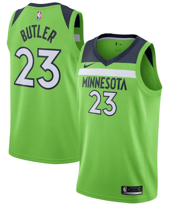 Men's Minnesota Timberwolves #23 Jimmy Butler Green Statement Edition Stitched Jersey