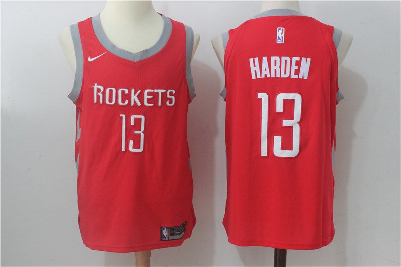Men's Nike Houston Rockets #13 James Harden Red Stitched NBA Jersey