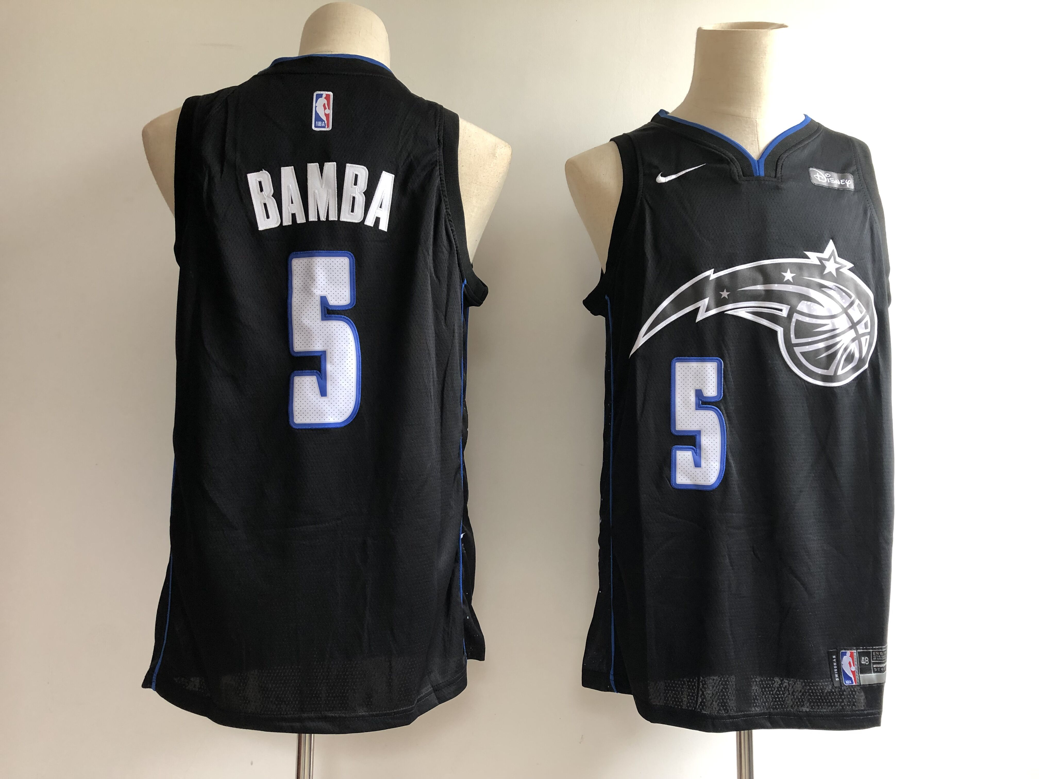 Men's Orlando Magic #5 Mohamed Bamba Black 2018/19 City Edition Swingman Stitched NBA Jersey