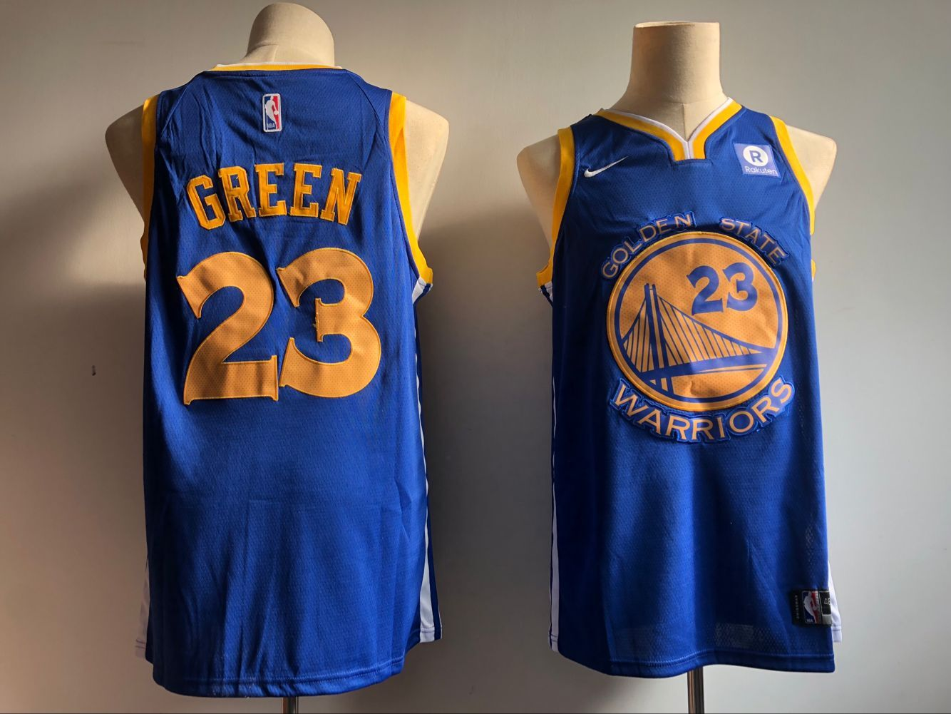 Men's Golden State Warriors #23 Draymond Green Blue Icon Edition Swingman Stitched NBA Jersey