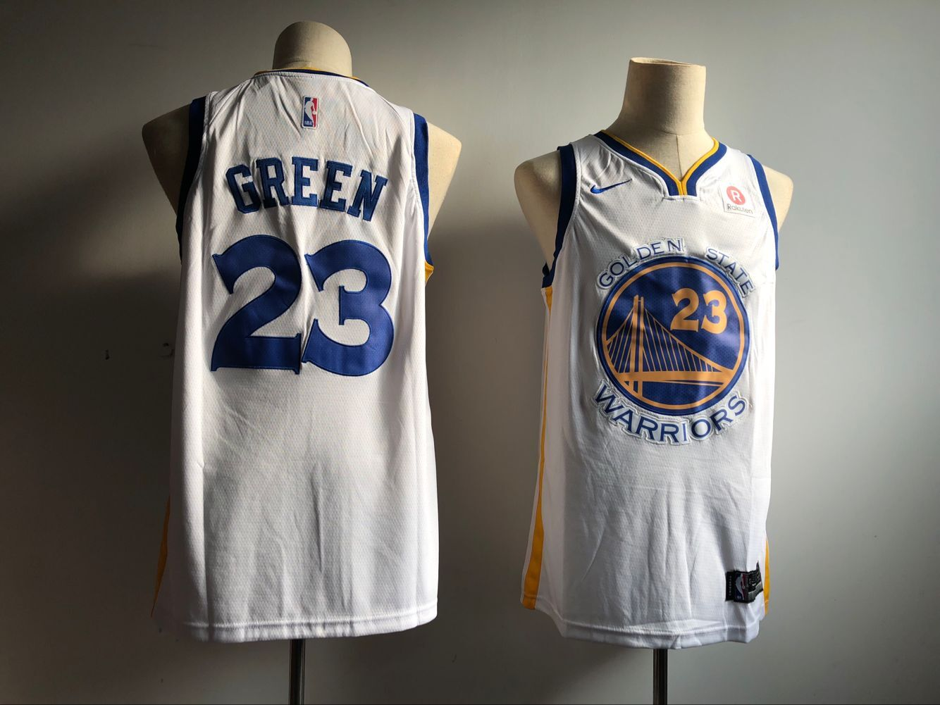 Men's Golden State Warriors #23 Draymond Green White Icon Edition Swingman Stitched NBA Jersey