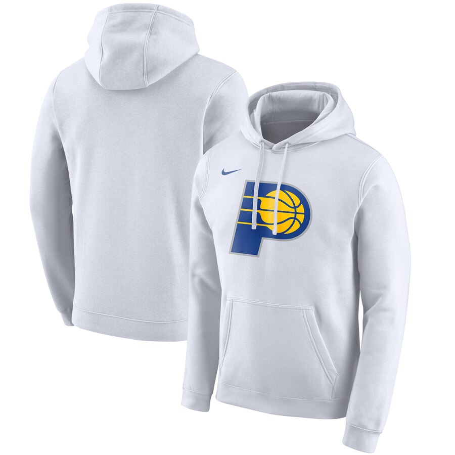 Men's Indiana Pacers White City Edition Club Pullover Hoodie