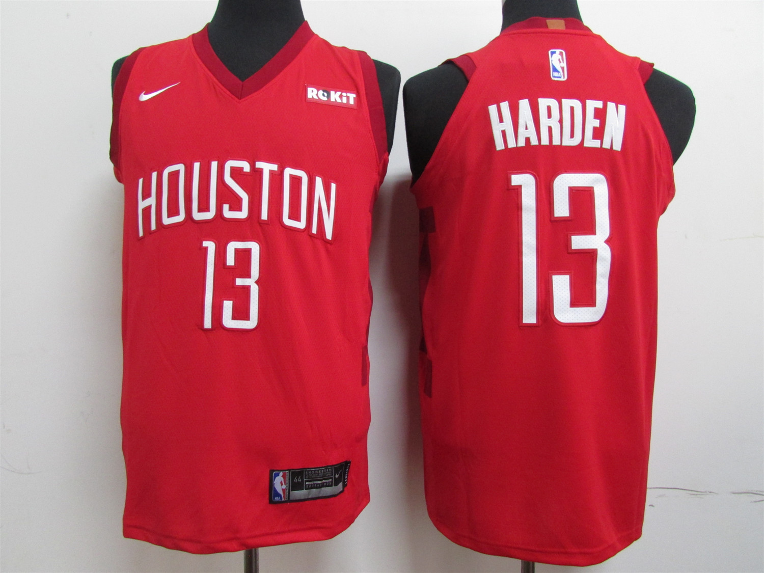 Men's Houston Rockets #13 James Harden Red 2019 Earned Edition Swingman Stitched NBA Jersey