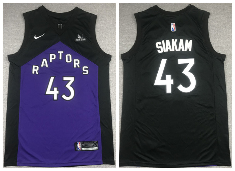 Men's Toronto Raptors #43 Pascal Siakam Purple And Black Stitched NBA Jersey