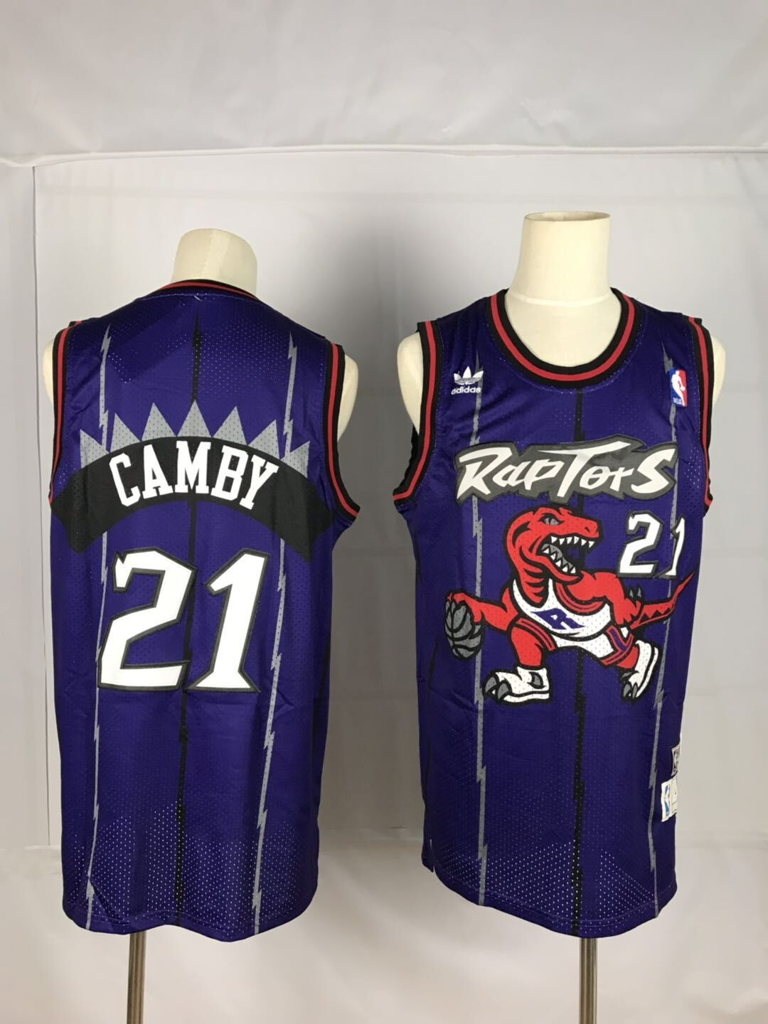 Men's Toronto Raptors #21 Marcus Camby Blue Swingman Stitched NBA Jersey