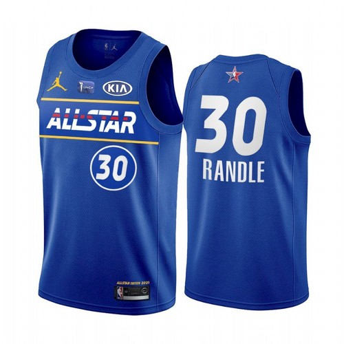 Men's 2021 All-Star Knicks #30 Julius Randle Blue Eastern Conference Stitched NBA Jersey