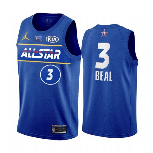 Men's 2021 All-Star #3 Bradley Beal Blue Eastern Conference Stitched NBA Jersey